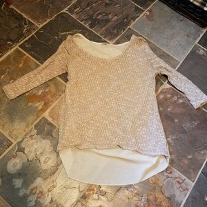 Charlotte Russell light sweater shirt